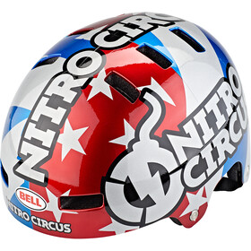 Bell Local Fietshelm, red/silver/blue nitro circus